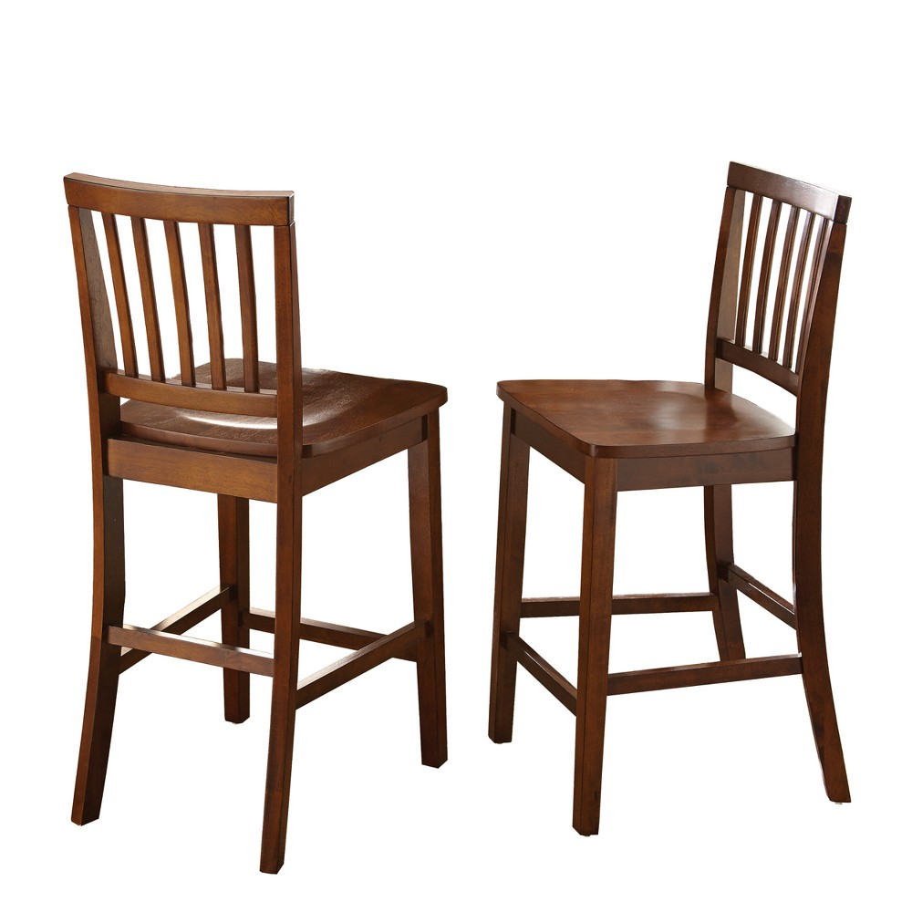 Branson Counter Chair Honey Spice (Set of 2) - Steve Silver