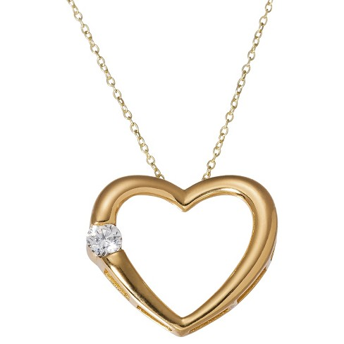 "Gold Plated Heart Pendant Necklace (18"") - image 1 of 2"