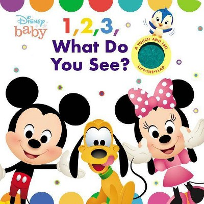 Disney Baby: 1, 2, 3 What Do You See? - (Cloth Flaps)by Maggie Fischer (Board Book)