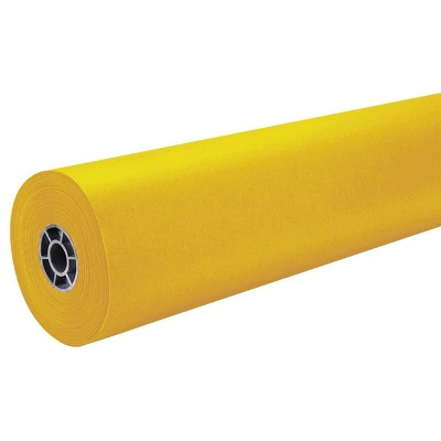 "36"" x 500' ArtKraft Duo-Finish Paper Roll - Canary Yellow"