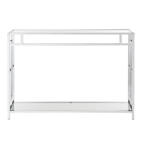 Town Square Console Table Glass/Chrome - Johar Furniture - image 1 of 4