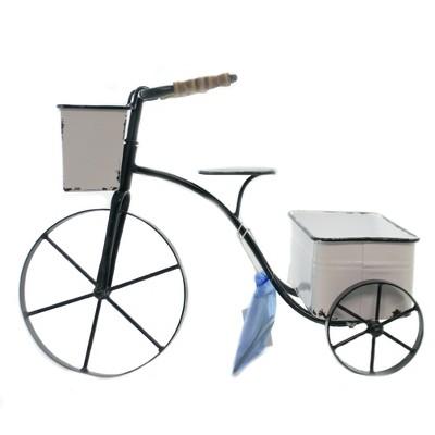 "Home & Garden 12.75"" Tricycle Planter Iron Distressed Enamel Ganz  -  Planters"
