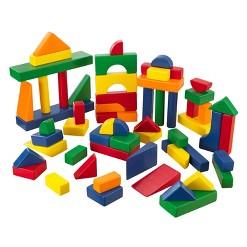 KidKraft 60 pc Wooden Block Set - Primary Colors