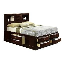 3pc Madison Storage Bedroom Set Mahogany - Picket House Furnishings