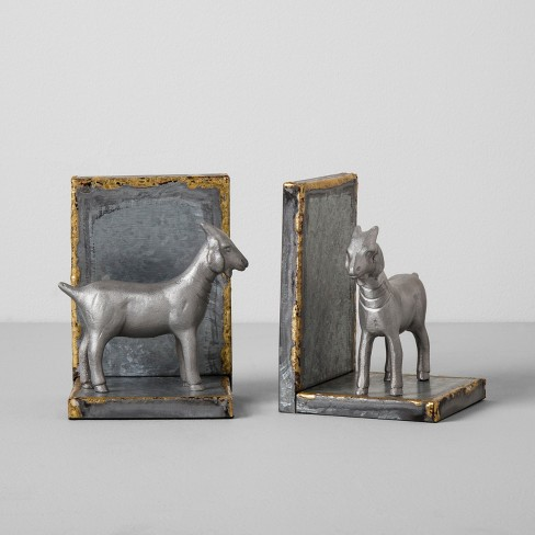 Galvanized Goat Bookends Set of 2 - Hearth & Hand™ with Magnolia - image 1 of 3