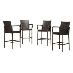Delfina Set of 4 Wicker Barstool - Christopher Knight Home