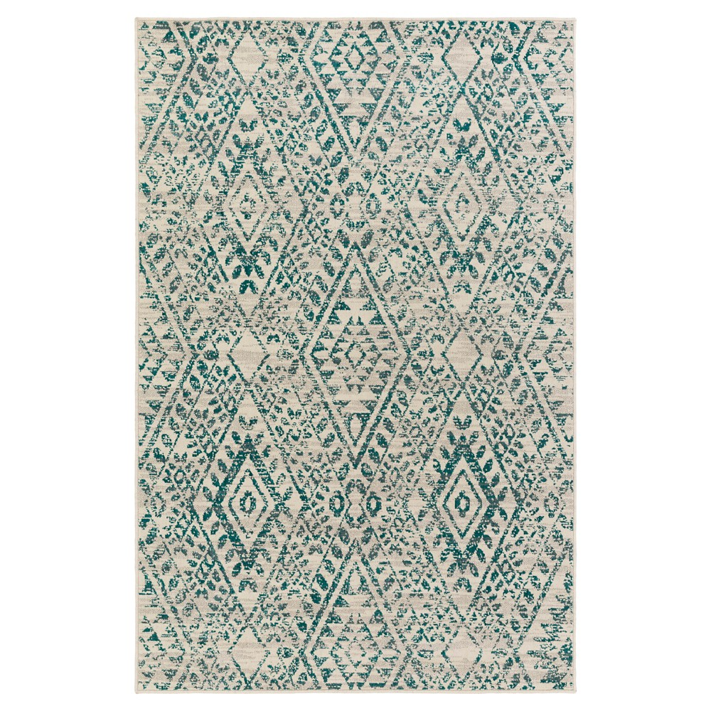 Teal (Blue) Abstract Tufted Area Rug - (8'X10') - Surya