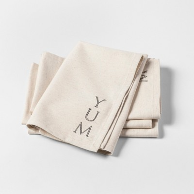 4pk Yum Napkins Beige - Threshold™