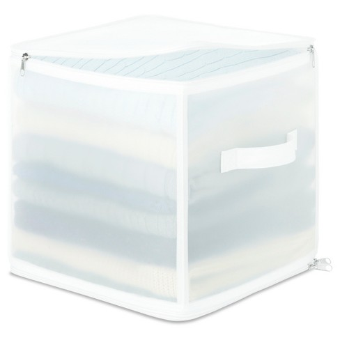 Whitmor Collapsible Zip Cube Clothing Storage Boxes - image 1 of 2