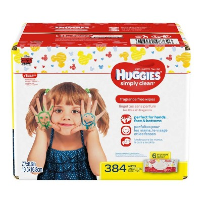 Huggies Simply Clean Baby Wipes Soft Pack - 384ct