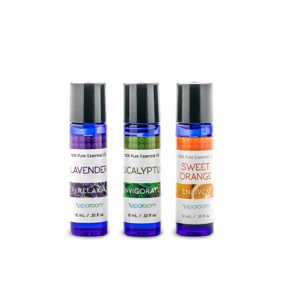 3pk 10ml Sparoom Lively Pack 100% Pure Essential Oil Lavender, Eucalyptus & Sweet Orange