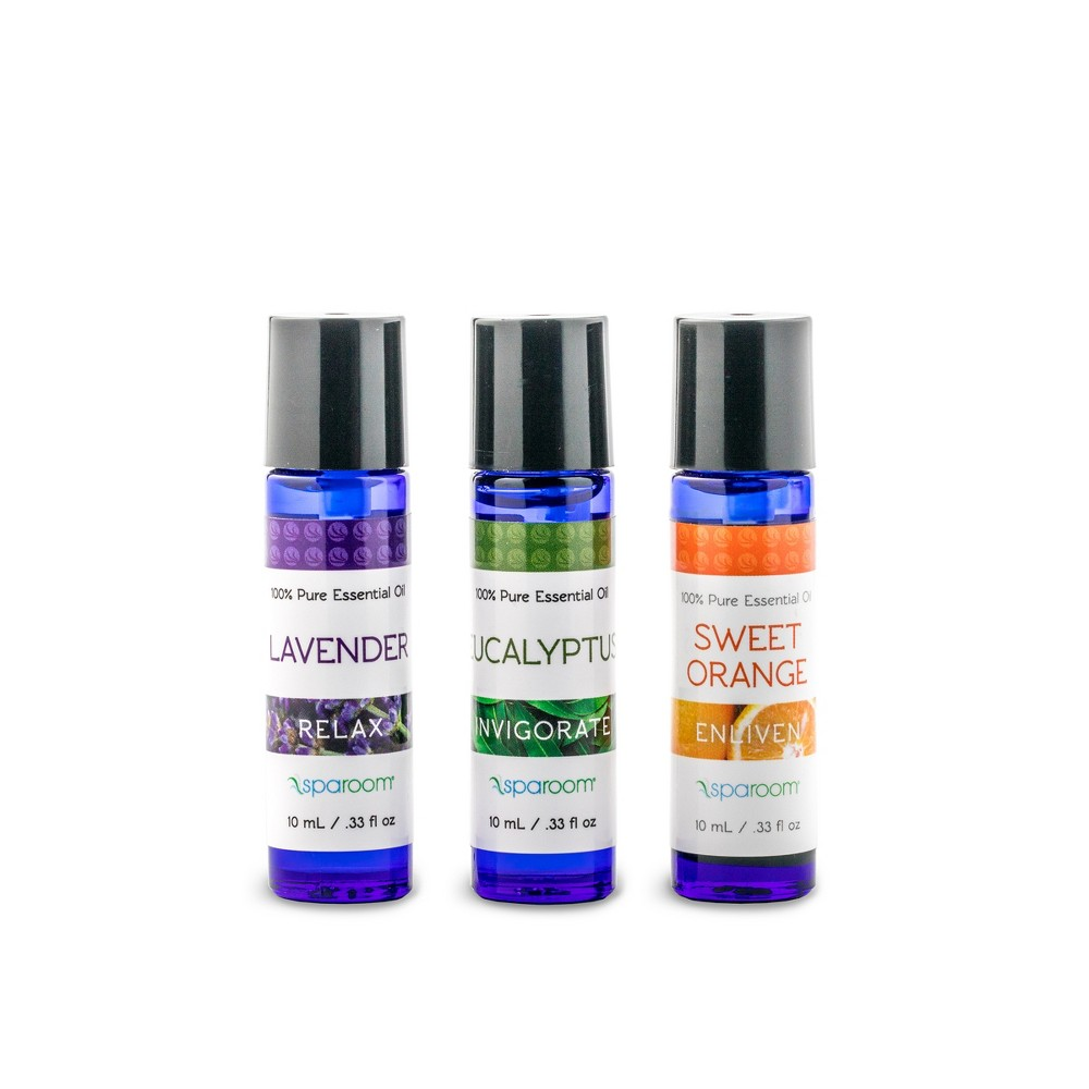 Image of 3pk 10ml Sparoom Lively Pack 100% Pure Essential Oil Lavender, Eucalyptus & Sweet Orange