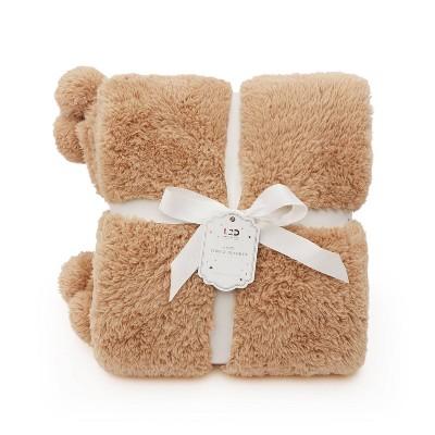 Teddy Bear Faux Fur Throw Brown - Love 2 Design