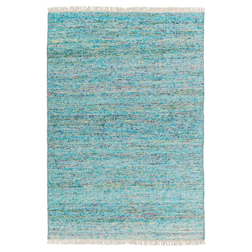 Sky Blue Solid Woven Area Rug - (10'X14') - Surya