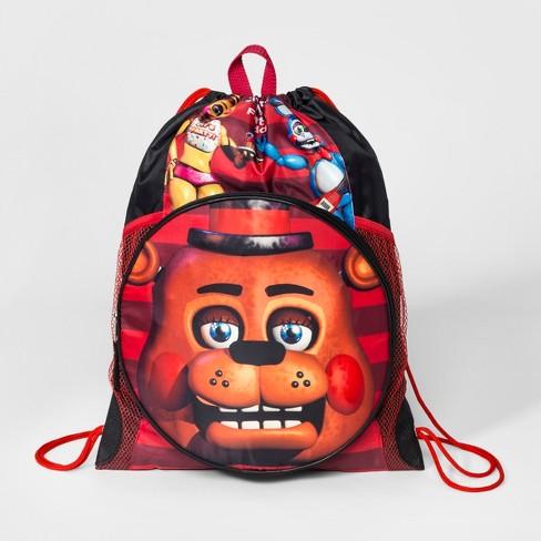 Boys' Five Nights at Freddy's Drawstring Bag - Black
