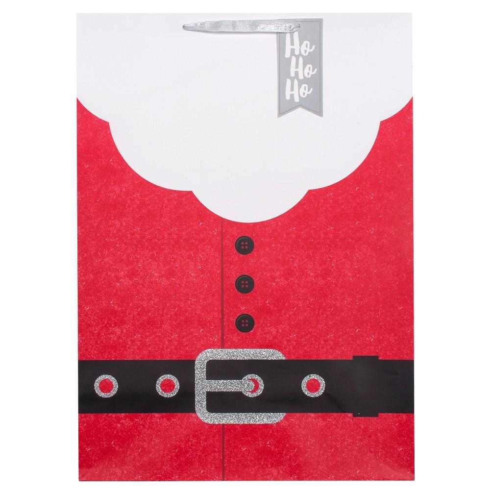 Jumbo Santa Belt Christmas Gift Bag Red - Wondershop
