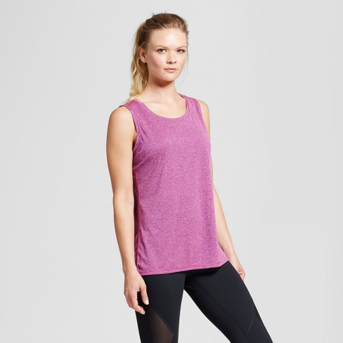 139ecd31429389 Women s Sleeveless Tech T-Shirt - C9 Champion® - Grape Splash Neon Flare  Coral Heather L