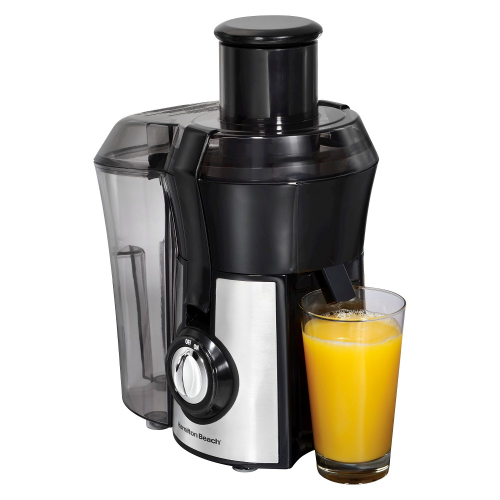 Hamilton Beach Big Mouth Pro Juice Extractor - Stainless 67608, Silver Black