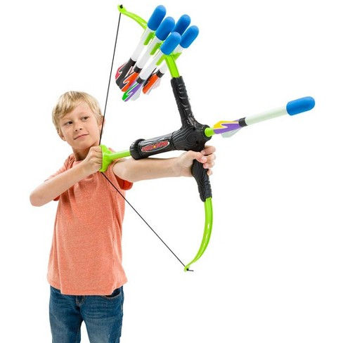 """Kid-Friendly Faux Bow And Arrows Set, 24""""L X 30""""W X 30""""H - Hearthsong - image 1 of 1"""