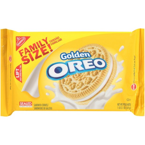 Golden Oreo Sandwich Cookies Family Size 19 1oz Target