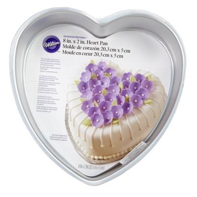 "Wilton 8"" Decorator Preferred Aluminum Heart Cake Pan"