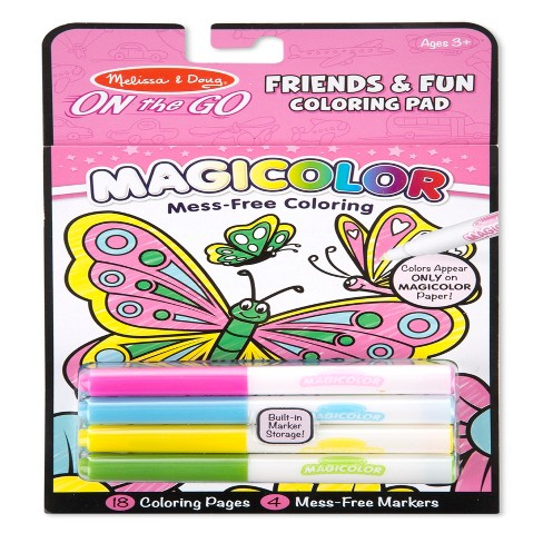 Melissa And Doug Wow Velvet Coloring Book Assorted Target