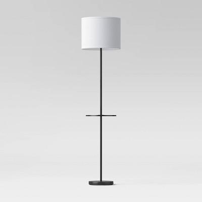 Floor Lamp with Shelf (Includes LED Light Bulb)Black - Room Essentials™