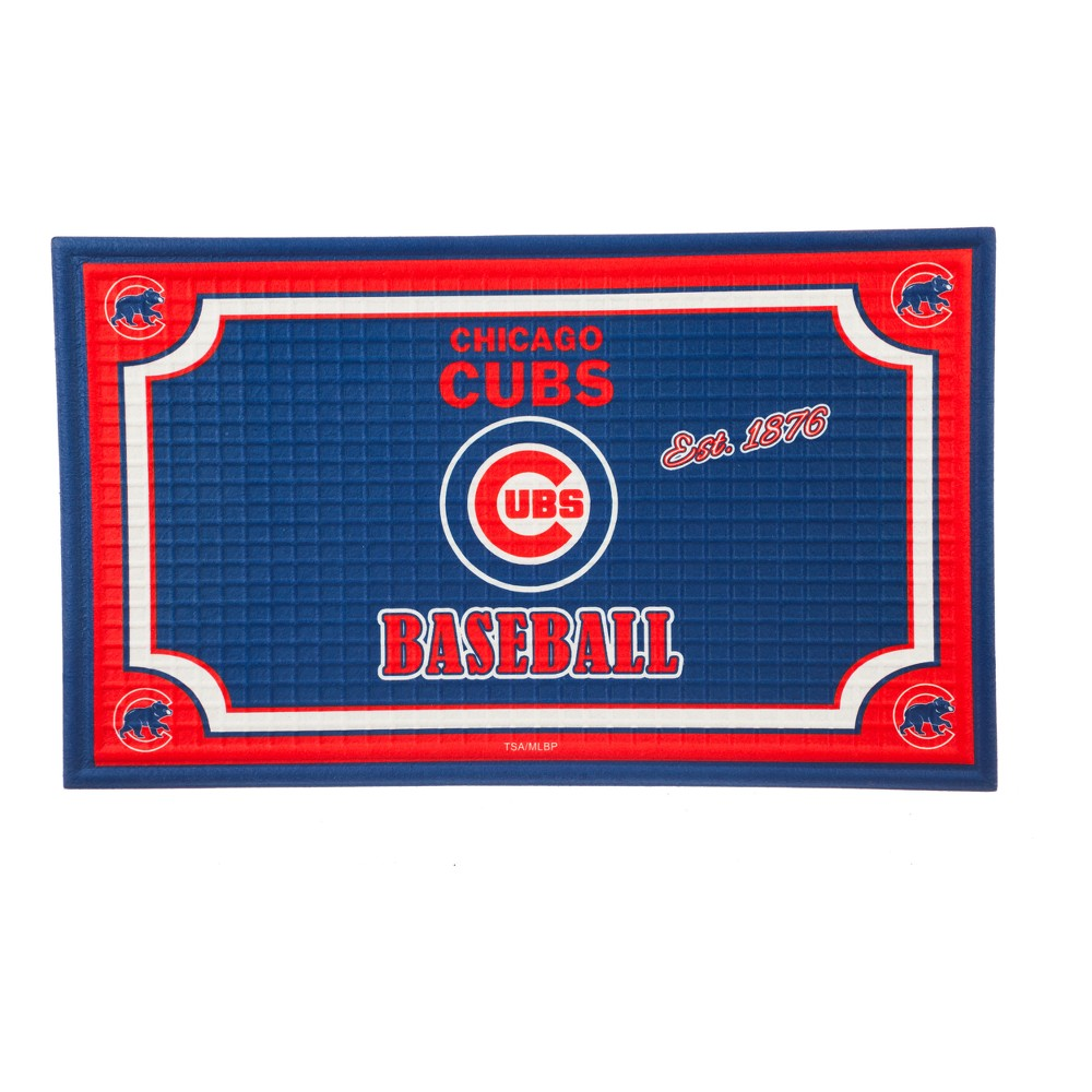 Chicago Cubs Embossed Welcome Mat - 18