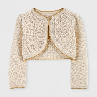 Toddler Girls' Holiday Cardigan - Just One You® made by carter's Beige 3T