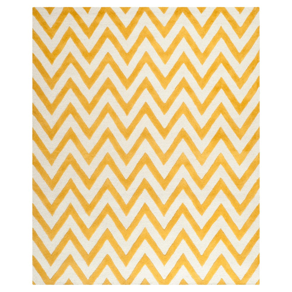 Dalton Textured Area Rug - Gold/Ivory (8'x10') - Safavieh