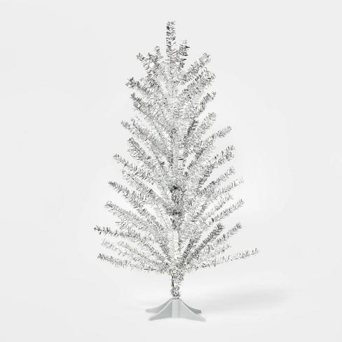2ft Unlit Tinsel Christmas Tree Shiny Silver - Wondershop™ - image 1 of 1