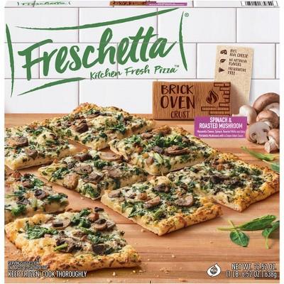 Freschetta Brick Oven Crust Spinach & Roasted Mushroom Frozen Pizza - 22.52oz