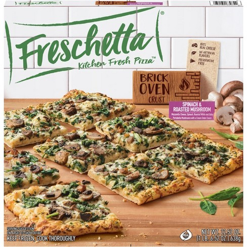 Freschetta Brick Oven Crust Roasted Portabella Mushrooms & Spinach Frozen Pizza - 22.52oz - image 1 of 3