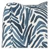 "Blue Zebra Throw Pillow (20""x20"") - image 3 of 4"