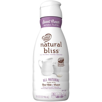 Coffee Mate Natural Bliss Sweet Cream Coffee Creamer - 1qt