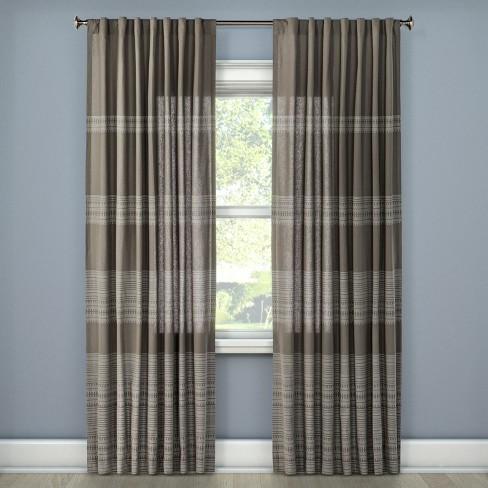Global Stitch Curtain Panel - Threshold™ - image 1 of 2