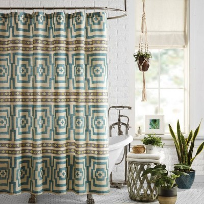 Hypnotic Shower Curtain Blue - Jungalow by Justina Blakeney