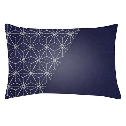 "Navy Stars Throw Pillow 14""x24"" - Surya - image 1 of 3"