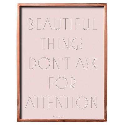 Beautiful Things Pink & Copper Framed Wall Art - 3R Studios