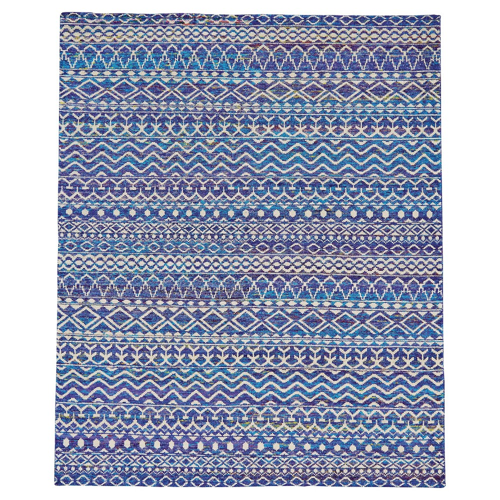 Hydrangea Tribal Knotted Area Rug - (4'X6') - Room Envy