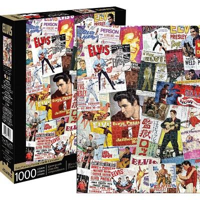 NMR Distribution Elvis Presley Movie Poster Collage 1000 Piece Jigsaw Puzzle