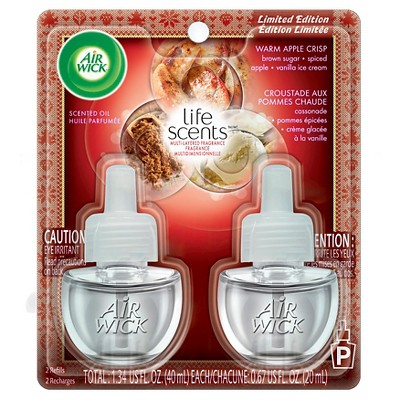 Air Wick Scented Oil, Twin Refill Life Scents Love, 2ct .67 oz