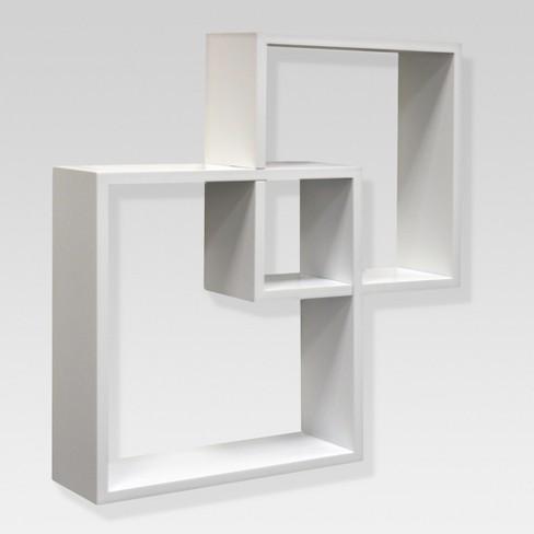 Interlocking Shelf Set White Threshold