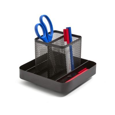 TRU RED 6 Compartment Wire Mesh Rotating Organizer, Matt TR57578-CC