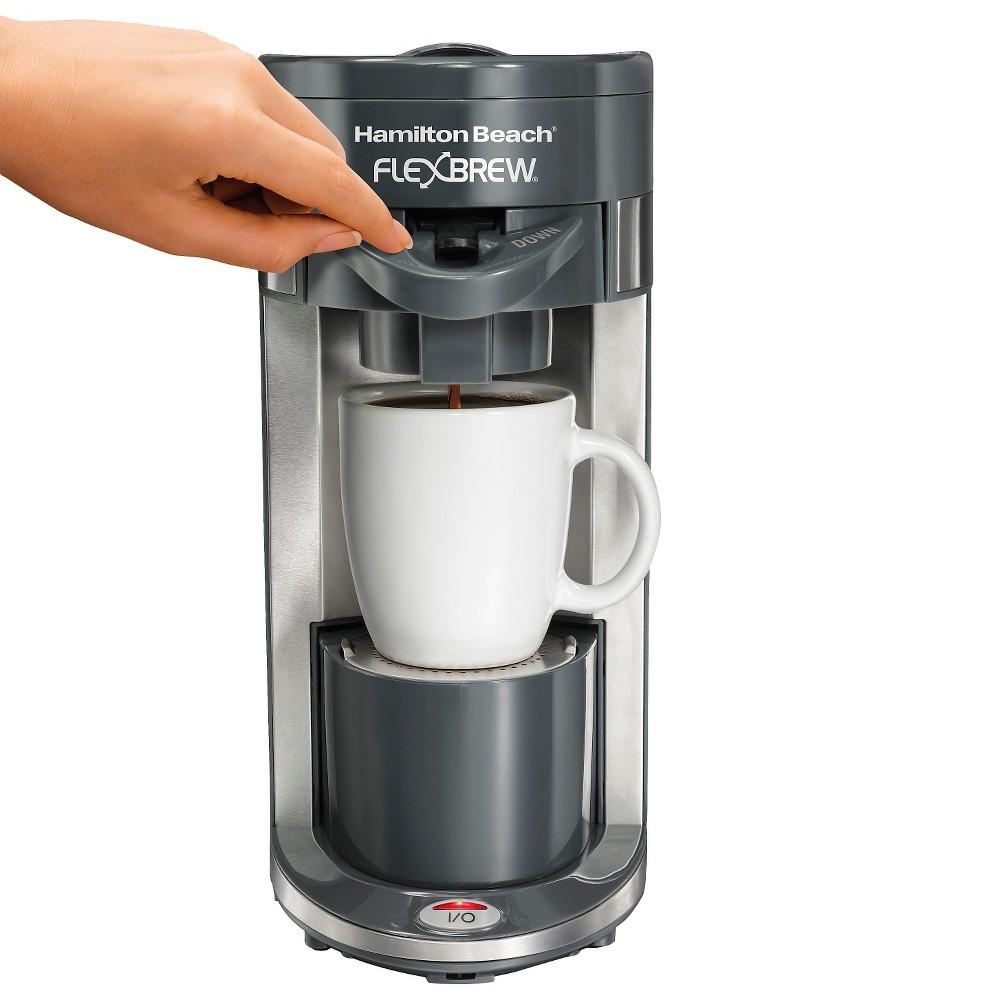 Hamilton Beach FlexBrew Single-Serve Coffee Maker - Gray 49963, Dark Ash