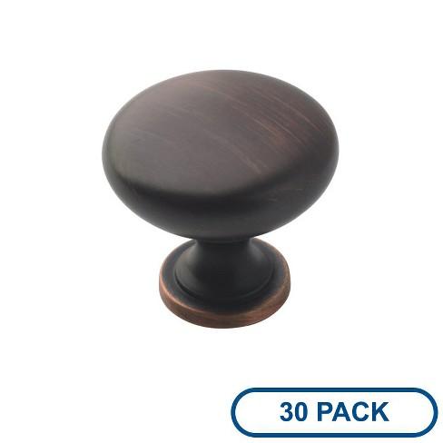 """Amerock BP53005-30PACK Allison Value 1-1/4"""" Diameter Mushroom Cabinet Knob - Package of 30 - image 1 of 4"""