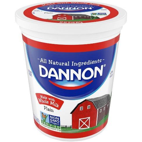 Dannon All Natural Plain Yogurt - 32oz - image 1 of 1