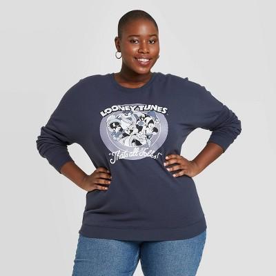 Women's Warner Bros. Looney Tunes Graphic Sweatshirt - Navy