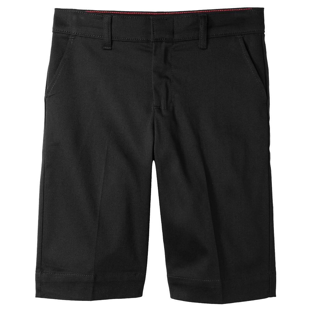 Dickies Girl Juniors' Classic Stretch Bermuda Shorts - Black 15