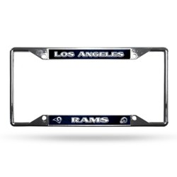 NFL Los Angeles Rams View Chrome License Plate Frame